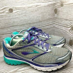 Brooks Ghost 7 running shoe gray teal purple